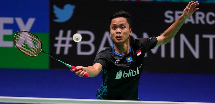 Tunggal putra Indonesia, Anthony Sinisuka Ginting. ft/bwf, indonesia masters 2020