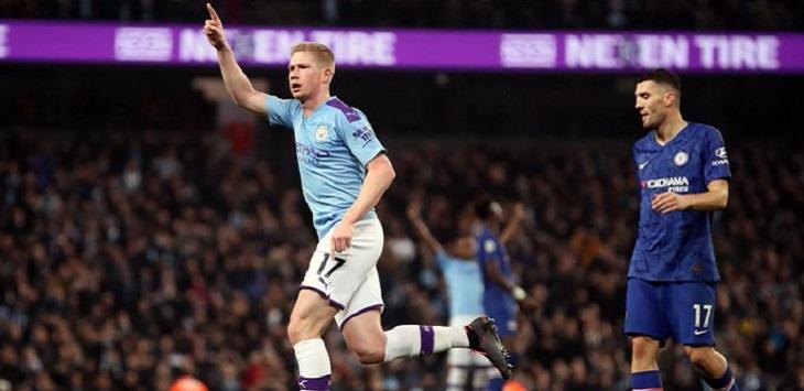 Manchester City menang 2-1 atas Chelsea di Etihad Stadium, Minggu (24/11/2019) dini hari WIB.