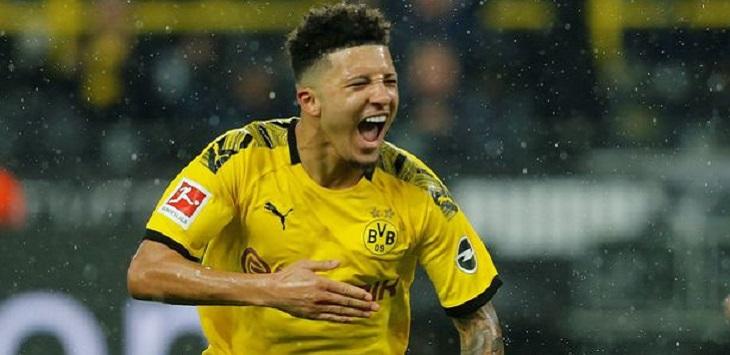 Penyerang sayap Borussia Dortmund dan Timnas Inggris, Jadon Sancho.