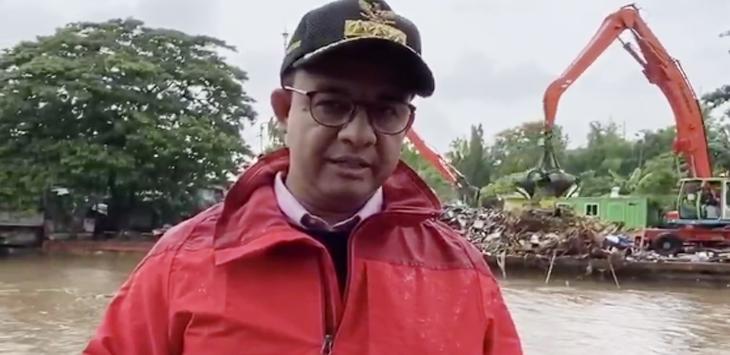 Anies Baswedan Pantau Banjir di Manggarai