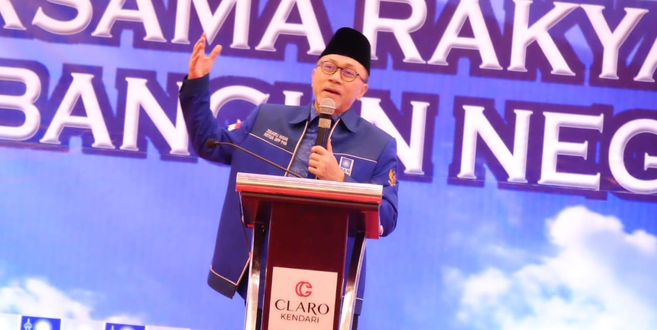 Ketua Umum PAN Zulkifli Hasan di Kongres V PAN di Kendari, Sulawesi Tenggara. Foto ist