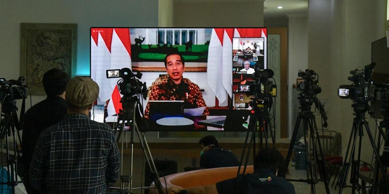 Presiden Jokowi memimpin Rapat Terbatas yang salah satunya membahas soal mudik di tengah wabah COVID-19. Foto Setneg