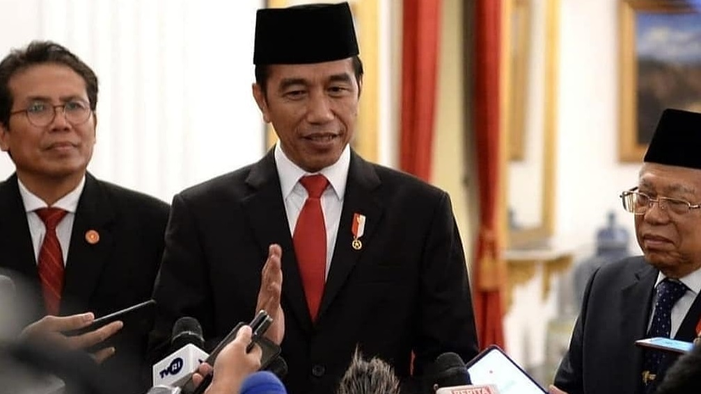 Presiden Jokowi dan Wapres Ma'ruf Amin dan Jubir Istana, Fadjroel Rachman