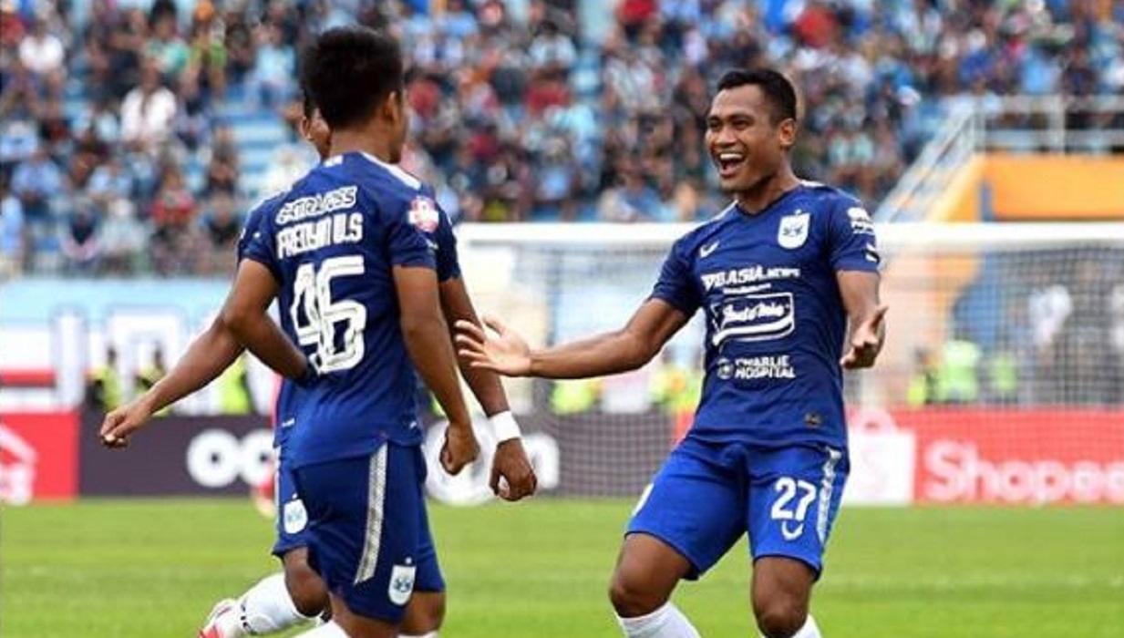 PSIS Semarang saat kalahkan Persela Lamongan 2-3 pada laga lanjutan Liga 1 2020, Sabtu (7/3). (@psisfcofficial)