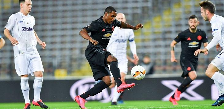 Odion Ighalo mengawali pesta gol Manchester United atas LASK di Raiffeisen Arena (Pasching), Jumat (13/3/2020) dini hari WIB.
