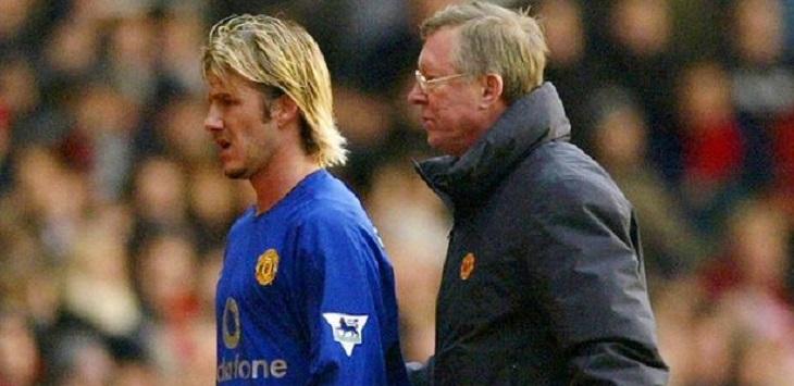 David Beckham dan Sir Alex Ferguson.