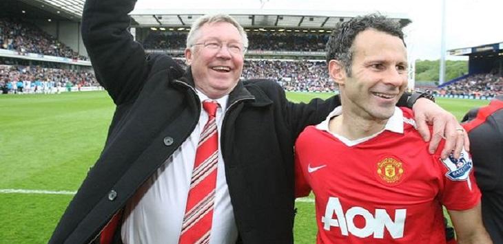 Sir Alex Ferguson dan Ryan Giggs ketika masih sama-sama di Manchester United.
