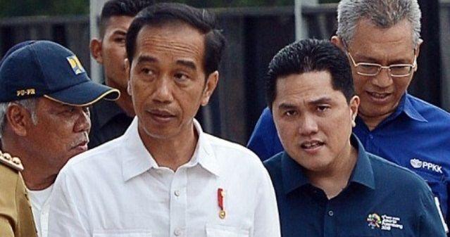 Presiden Jokowi dan Menteri BUMN Erick Thohir