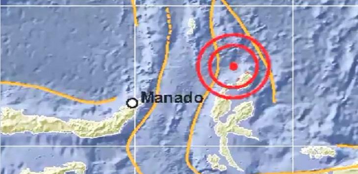 Gempa di Daruba-Maluku Utara, Kamis (4/6/2020) sore.