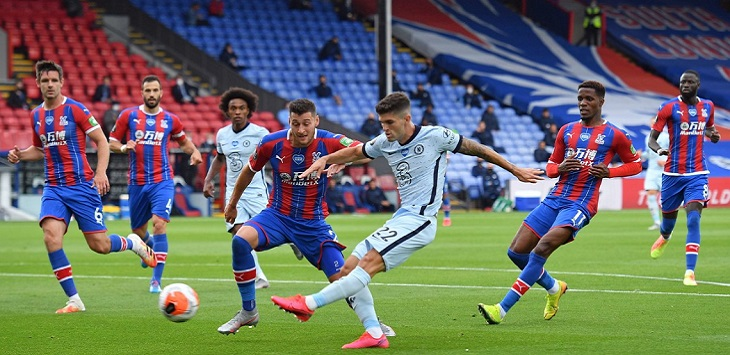 Chelsea menang 3-2 atas Crystal Palace di Selhurst Park (London), Rabu (8/7/2020) dini hari WIB.