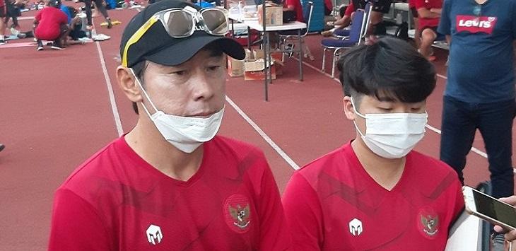 Pelatih Timnas Indonesia U-19, Shin Tae Yong (kiri). ft/antara