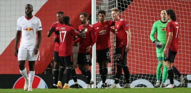 Manchester United menang 5-0 atas RB Leipzig di Old Trafford, kamis (29/10/2020) dini hari WIB.