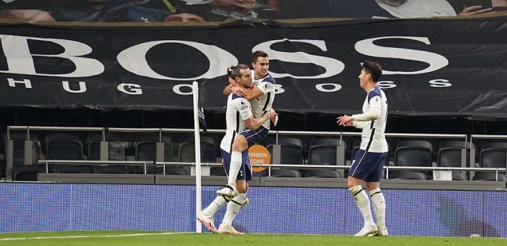 Gareth Bale mencetak gol pertamanya untuk Tottenham Hotspur sejak pindah dari Real Madrid, ketika mengalahkan Brighton 2-1, Senin (2/11/2020) dini hari WIB.