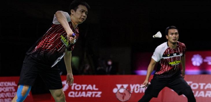 Ganda putra Indonesia, Mohammad Ahsan / Hendra Setiawan. ft/badmintonphoto_official
