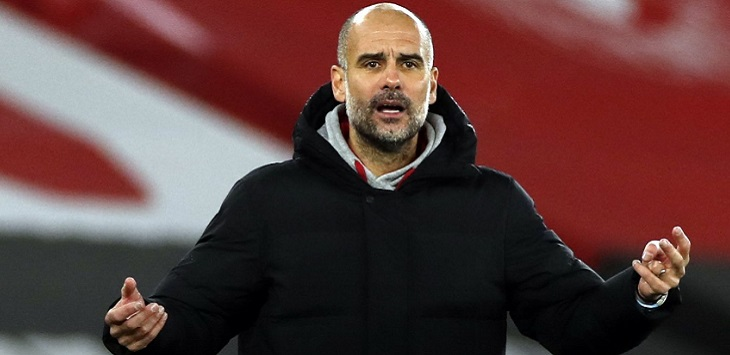 Manajer Manchester City, Pep Guardiola, psg vs man city