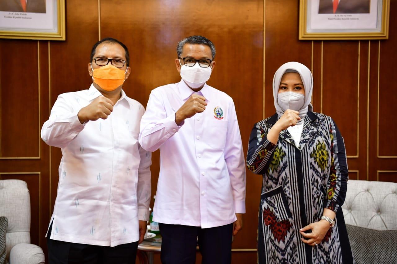 Danny-Fatma Silaturahim Gubernur Sulsel Jelang Pelantikan