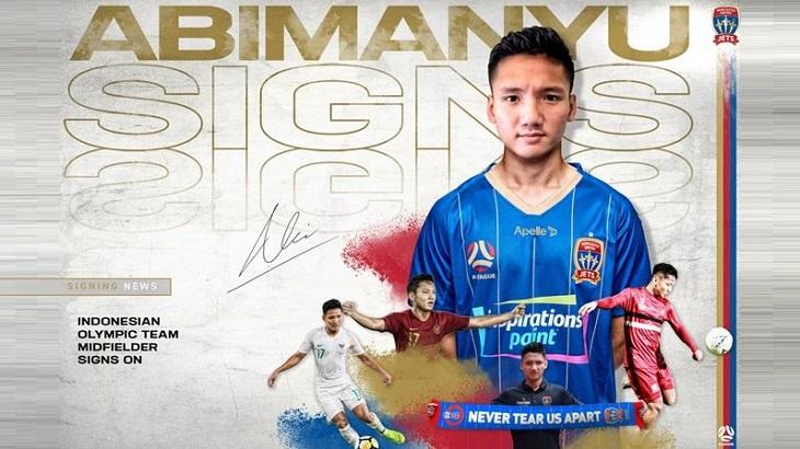 Syahrian Abimayu resmi jadi pemain Newcastle Jets, Jumat (5/2/2021).