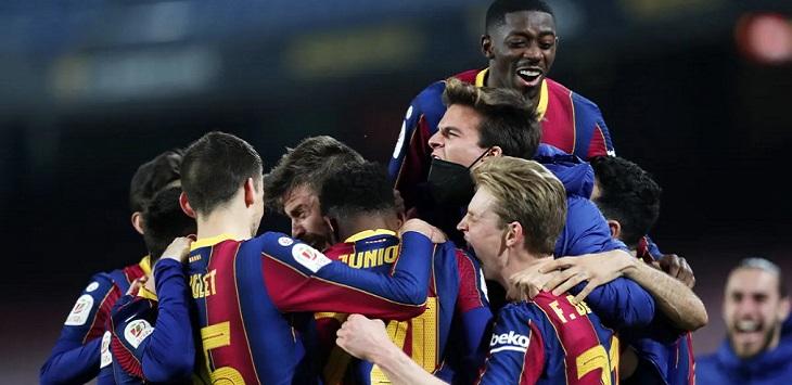 Barcelona menang 3-0 atas Sevilla di leg kedua semifinal Copa del Rey 2020/21, Kamis (4/3/2021) dini hari WIB.