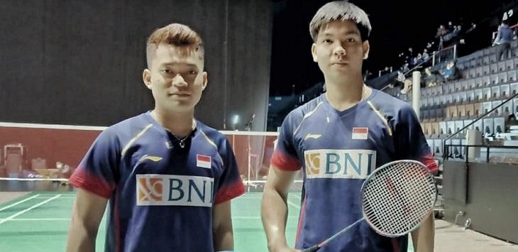 Ganda putra Indonesia, Leo Rollly Carnando / Daniel Marthin. ft/@badmintonindonesia