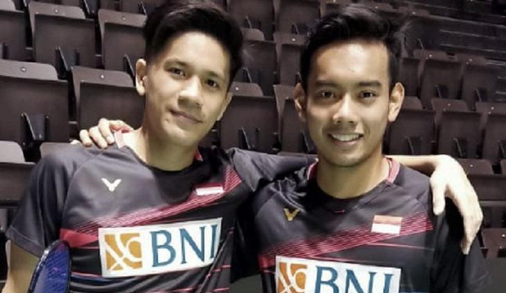 Ganda putra Indonesia, Pramudya Kusumawardana / Yeremia Erich Yoche Yacob Rambitan. ft/ @badminton indonesia