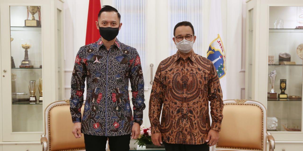 AHY dan Anies Baswedan. Foto dok Partai Demokrat