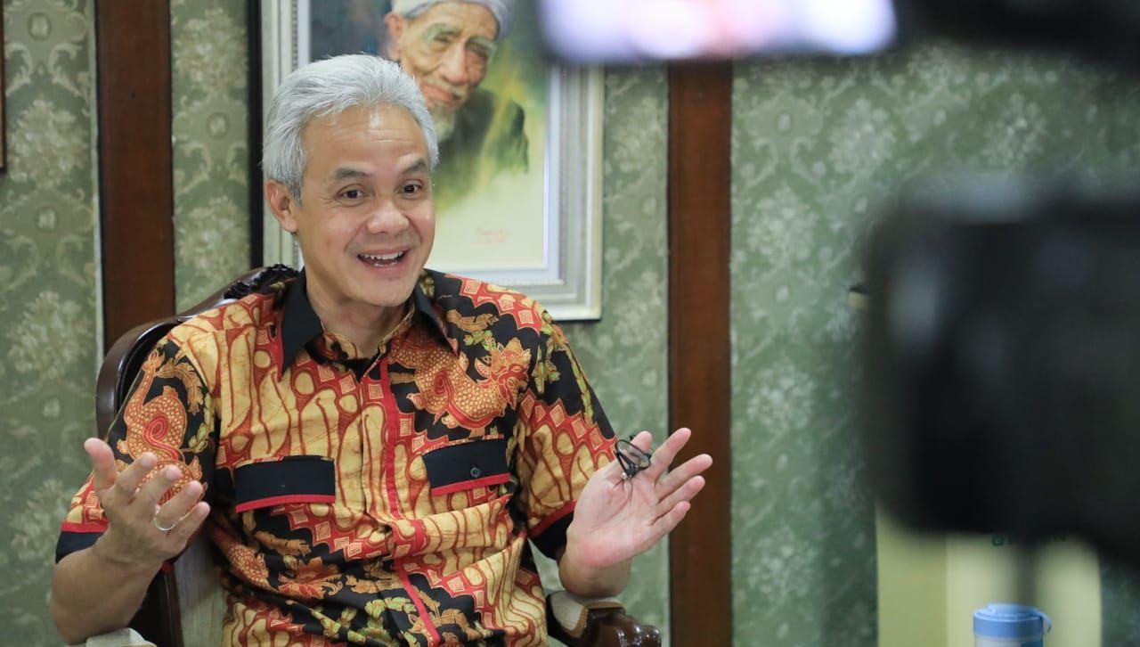 Gubernur Jawa Tengah Ganjar Pranowo. Foto Twitter Humas Pemprov Jateng.