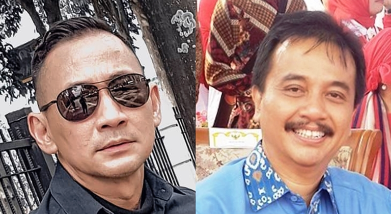 Lucky Alamsyah dan Roy Suryo