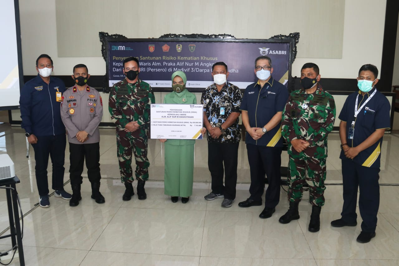 Asabri Salurkan Santunan ke Ahli Waris Prajurit yang Gugur di Papua