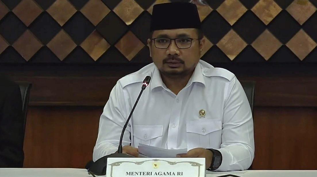 Menteri Agama Yaqut Cholil Qoumas umumkan pembatalan pemberangkatan haji tahun 2021