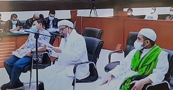 Sidang vonis Habib Rizieq Shihab di Pengadilan Negeri Jakarta Timur., Kamis (24/6/2021).