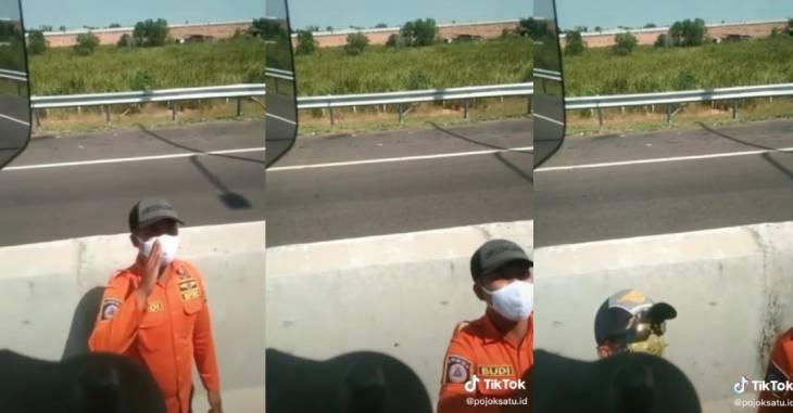 Oknum Satgas Covid-19 lakukan pungli di pos penyekatan PPKM di Tol Keramasan, Ogan Ilir, Sumatera Selatan