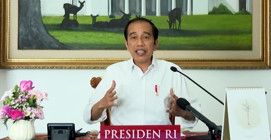 Presiden Jokowi memberikan arahan kepada kepala daerah terkait penanganan pandemi Covid-19