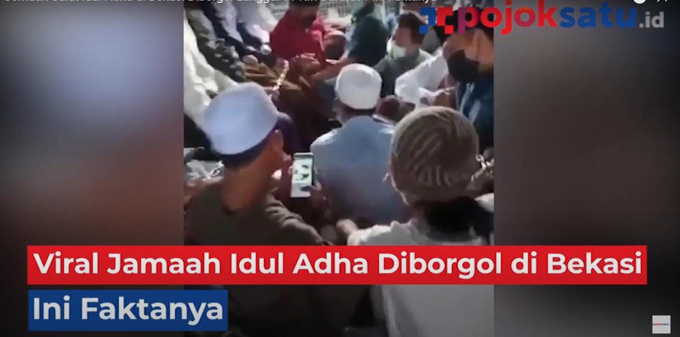Video jamaah Idul Adha diborgol dan dirantai