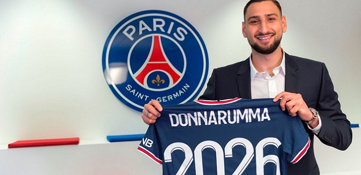 Gianluigi Donnarumma resmi jadi pemain Paris Saint-Germain, Rabu (14/7/2021). Ft/laman resmi PSG