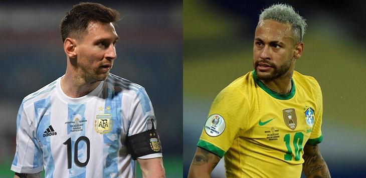 Final Copa America 2021, mempertemukan Argentina vs Brasil, link streaming argentina vs brasil