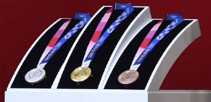 Ilustrasi klasemen medali Olimpiade Tokyo 2020. Ft/AP file