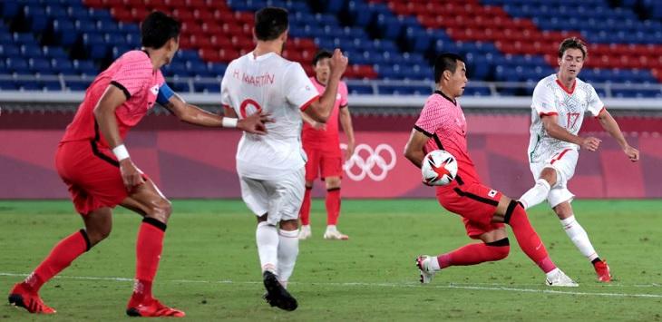 Pertandingan perempat final Olimpiade Tokyo 2020 antara Korea Selatan vs Meksiko di Stadion Yokohama, Sabtu (31/7/2021) malam WIB.