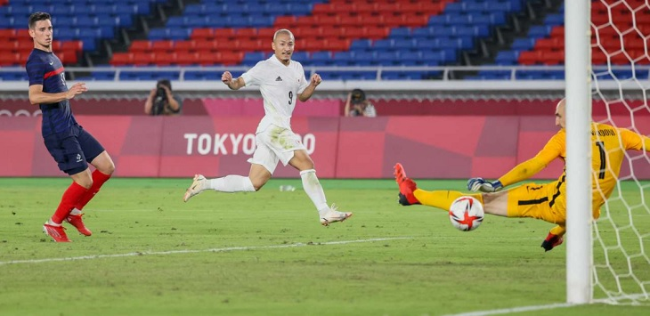 Pertandingan Prancis vs Jepang di Stadion Yokohama, Rabu (28/7/2021) petang WIB.