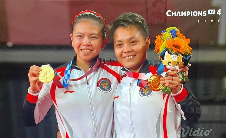 Greysia Polii/Apriyani Rahayu meraih medali emas.