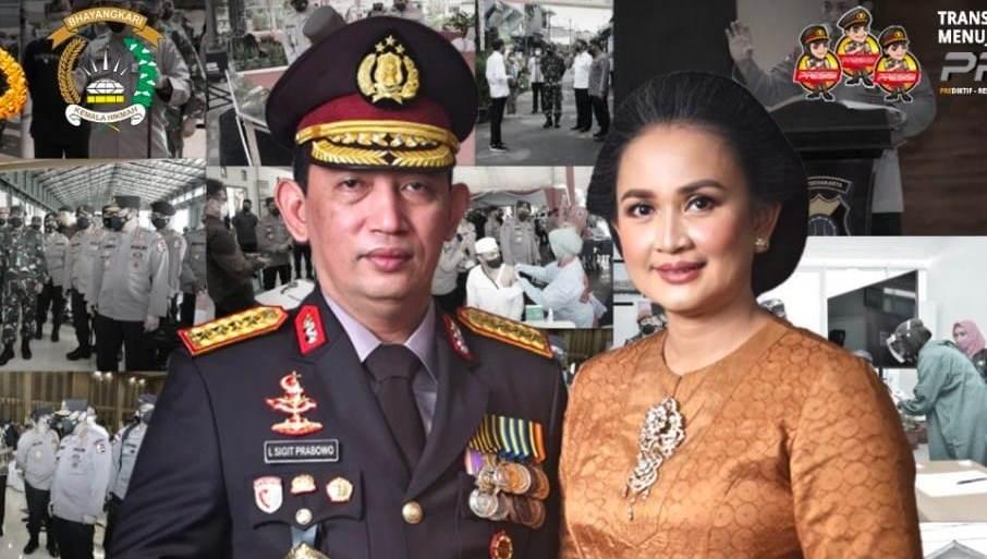 Kapolri Jenderal Pol Sigit Listyo Prabowo dan Ketua Umum Bhayangkari, Juliati Sigit Prabowo