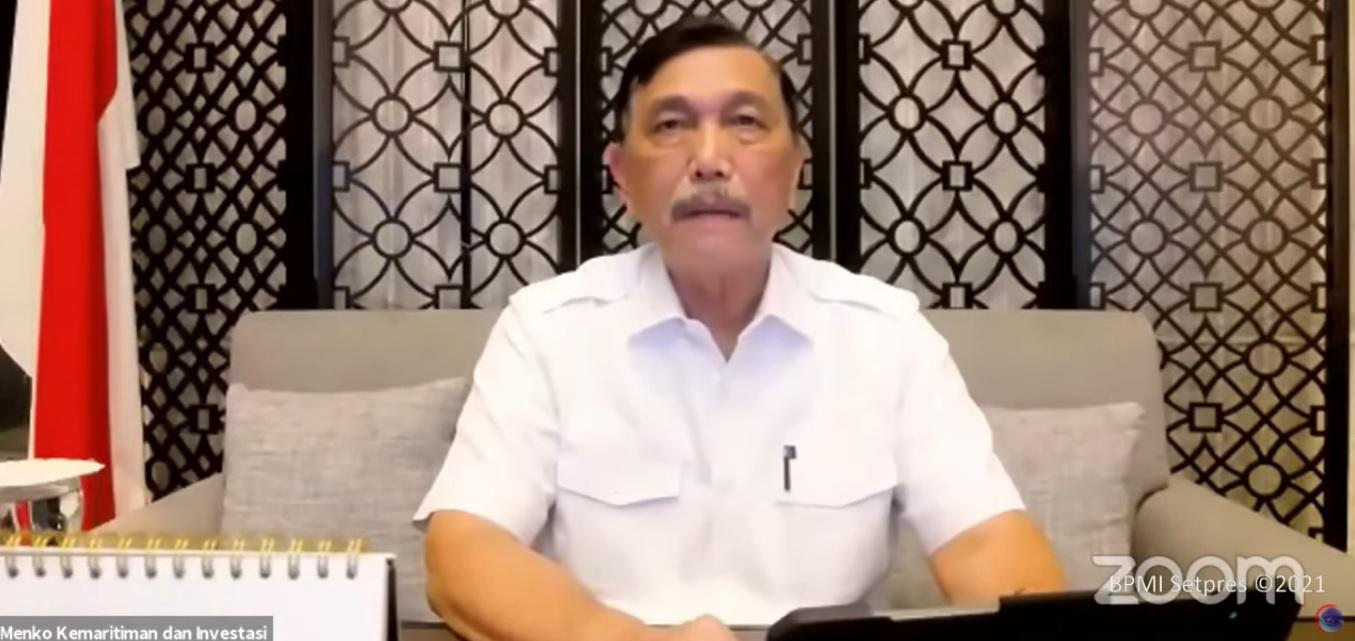 Menteri Koordinator Bidang Kemaritiman dan Investasi Luhut Binsar Panjaitan umumkan perpanjangan PPKM Jawa Bali sampai 16 Agustus 2021