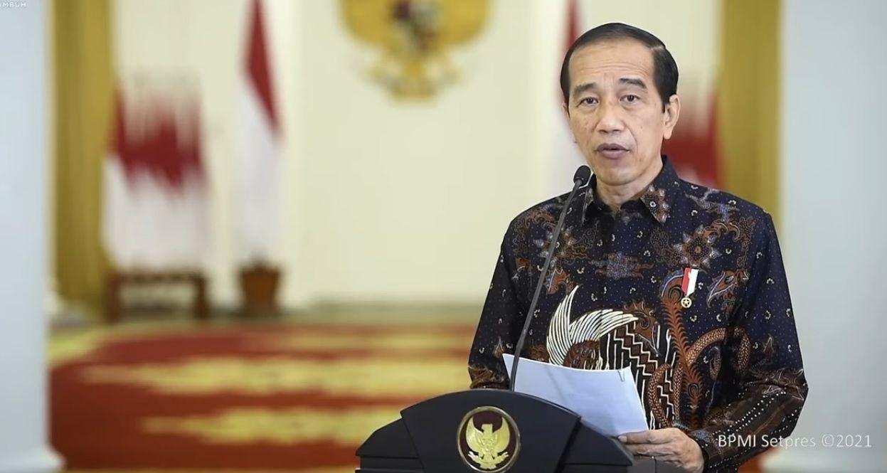 Presiden Jokowi umumkan perpanjangan PPKM Level 4 sampai 9 Agustus 2021