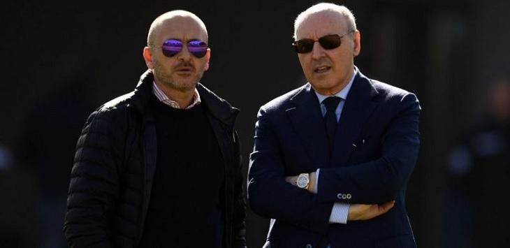 Direktur Olahraga Inter Milan, Piero Ausilio dan CEO Olahraga, Giuseppe Marotta.