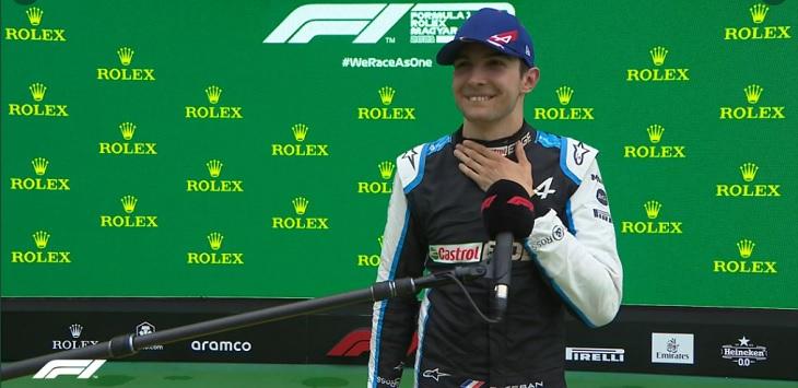 Pebalap Formula 1 dari Tim Alpine, Esteban Ocon.