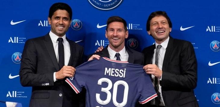 Paris Saint-Germain (PSG) memperkenalkan pemain barunya, Lionel Messi, Rabu (11/8/2021).