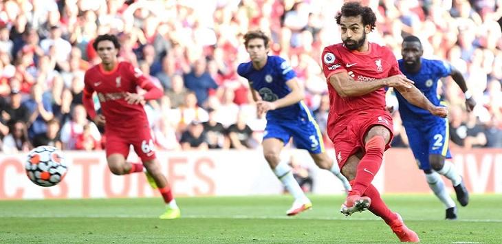 Pertandingan Liverpool vs Chelsea di Stadion Anfield, Sabtu (28/8/2021) malam, berakhir imbang 1-1.