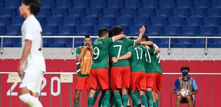 Meksiko mengalahkan Jepang 3-1 dalam perebutan medali perunggu Olimpiade Tokyo 2020, di Stadion Saitama, Jumat (6/8/2021).