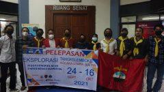 Tim Eksplorasi Tangkelemboke KORPALA Unhas resmi dilepas oleh Wakil Rektor Bidang Kemahasiswaan