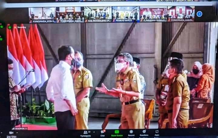Taufan Pawe Hadiri Pengarahan Presiden Jokowi di Makassar