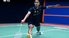 Tunggal Putra Indonesia, Anthony Ginting. Ft/Twitter @INABadminton, piala sudirman, sudirman cup